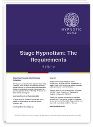 Stage Hypnotism: The Requirements