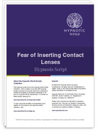 Fear of Inserting Contact Lenses