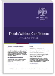 Thesis Writing Confidence