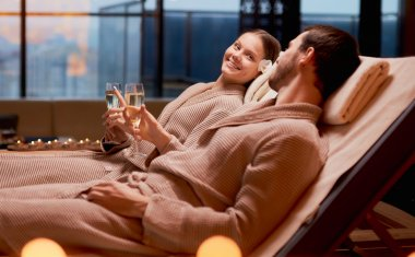 Couple being pampered and relaxing together.