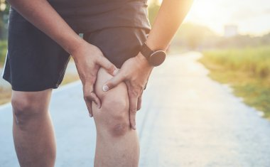 Person experiencing joint pain