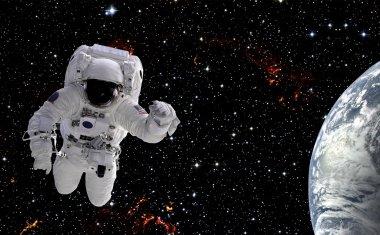 Weightless astronaut