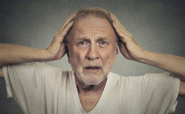 Old man panicking