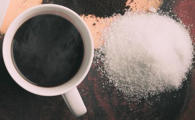 Sugar with coffee